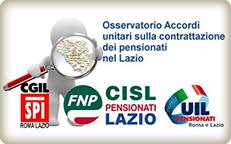 Osservatorio sulla contrattazione dei pensionati nel Lazio
